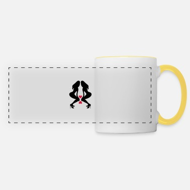Silhouette Underwear ۞»♥Sexy Twin women on Killer Stilettos♥«۞ - Panoramic Mug