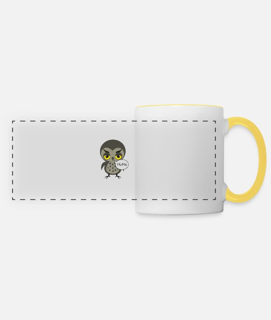 Party Mugs & Drinkware - Owl - Panoramic Mug white/yellow