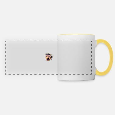 Colour Colour dog face - Panoramic Mug