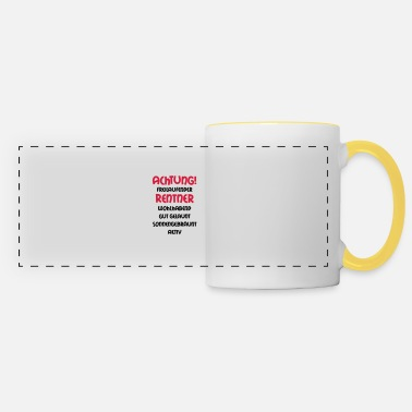 Grandad Underwear Warning freewheeling retirees, wealthy, well- - Panoramic Mug