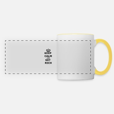 Get Rich Get rich: Keep calm and get rich - Panoramic Mug