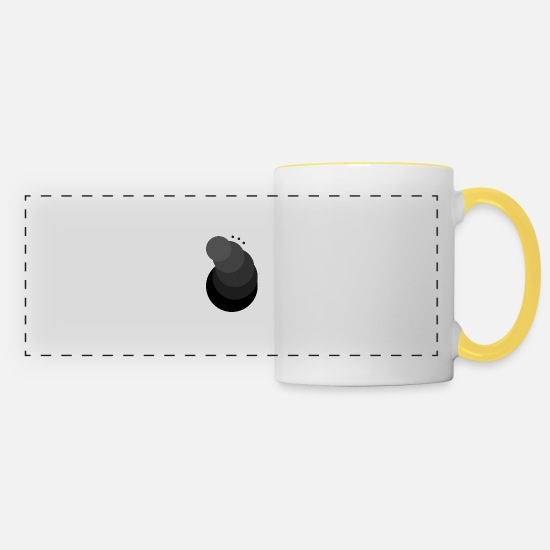 Party Mugs & Drinkware - Sphere Dropfire [Matte Black Shade] - Panoramic Mug white/yellow