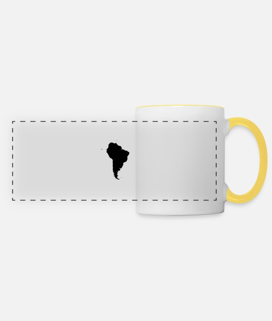 South America Mugs & Drinkware - South America - Panoramic Mug white/yellow