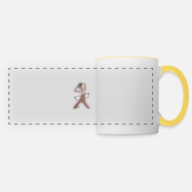 Naked Woman Woman naked in front of glasses - Panoramic Mug