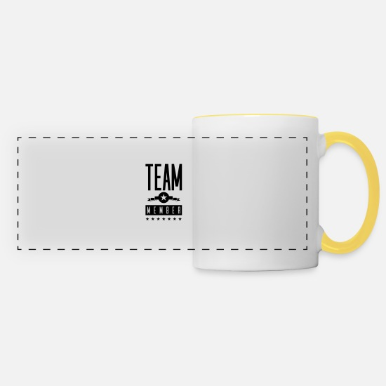 Staff Mugs & Drinkware - team member - Panoramic Mug white/yellow