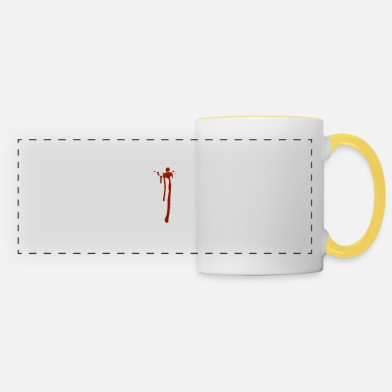 Red Mugs & Drinkware - Blood - Panoramic Mug white/yellow