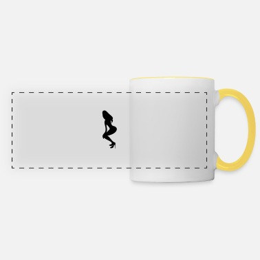 Silhouette Underwear ۞»♥Vector Sexy Wasp-waisted woman on Stilettos♥ - Panoramic Mug