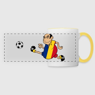 Romanian footballer - Panoramic Mug