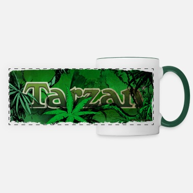 Wolfskind Tarzan Logo Jungle - Panoramic Mug