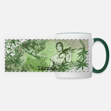 Wolfskind Tarzan with apes and liana - Panoramic Mug