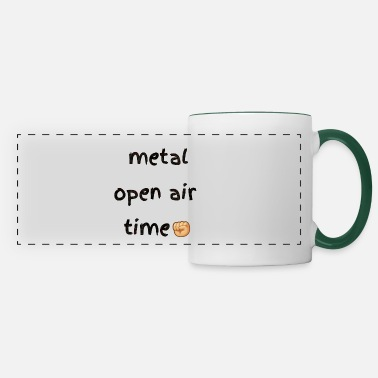 Shouter Metal open air festival time in summer - Panoramic Mug