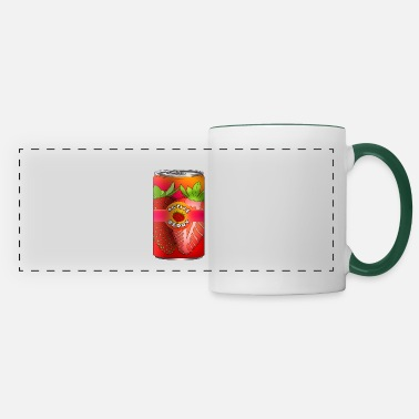 Drinking Strawberry energy drink for gift idea for kids - Panoramic Mug