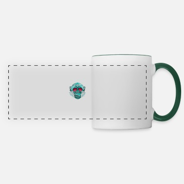 monkey mandala tattoo india dj rap cool music label - Panoramic Mug