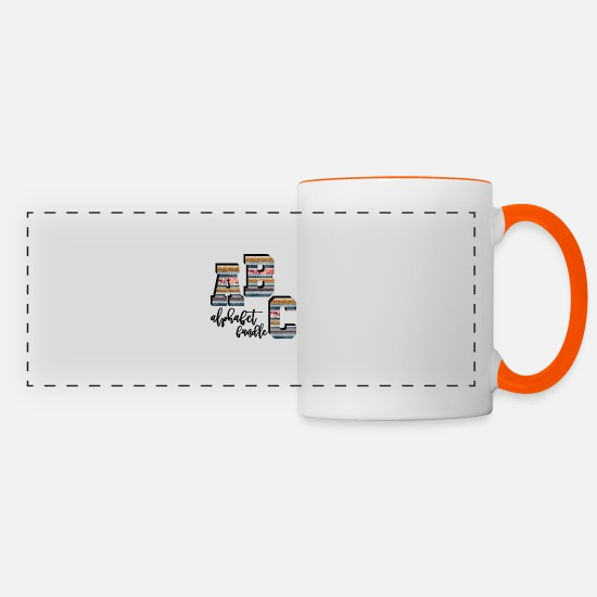 Abc Mugs et récipients - Alphabet Bundle - Mug panoramique blanc/orange
