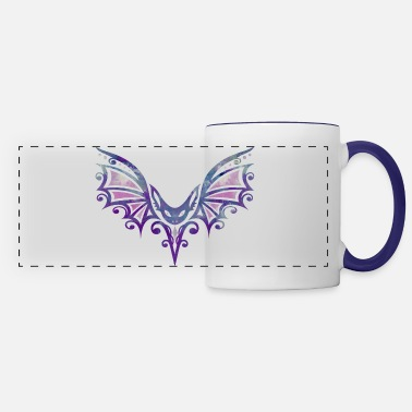 Fly Tattoo Flying Bat, Tattoo Design. Watercolor, Halloween. - Panoramic Mug