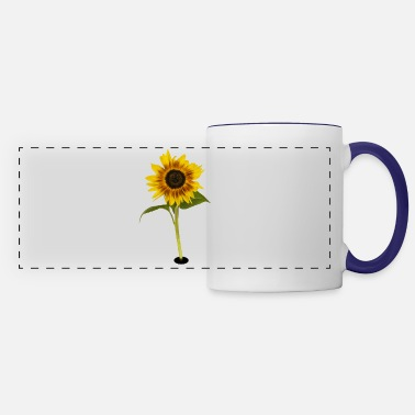 Sunflower - smile - Panoramic Mug