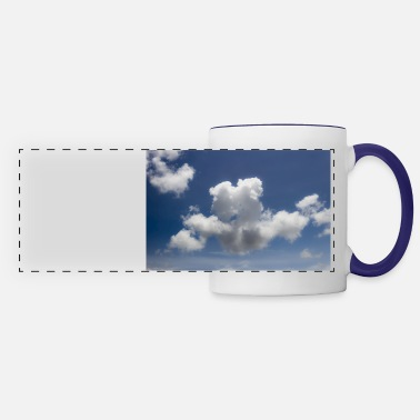 Blue clouds and sky - Panoramic Mug
