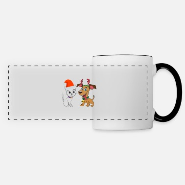 Woofy Merry Catmas And Woofy New Year Cat Dog Owner - Panoramic Mug
