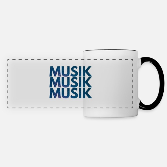 Style Of Music Mugs & Drinkware - Music Music Music - Panoramic Mug white/black