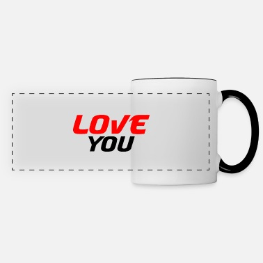 Romantic I love you - Panoramic Mug