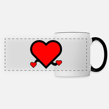 Romantic i love you red heart in love couple gift - Panoramic Mug