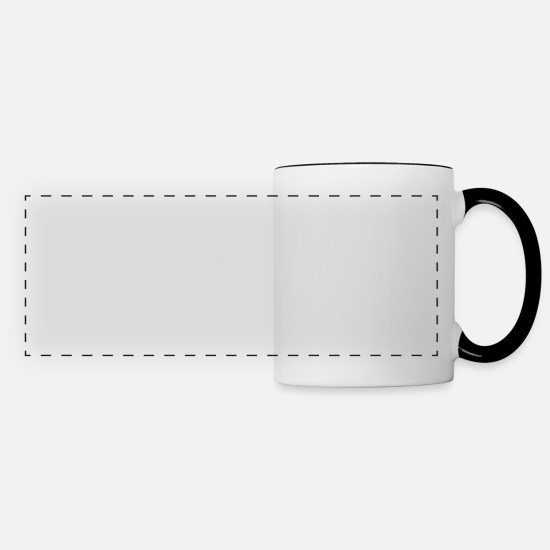 Gift Idea Mugs & Drinkware - A dancer on the dance floor - Panoramic Mug white/black