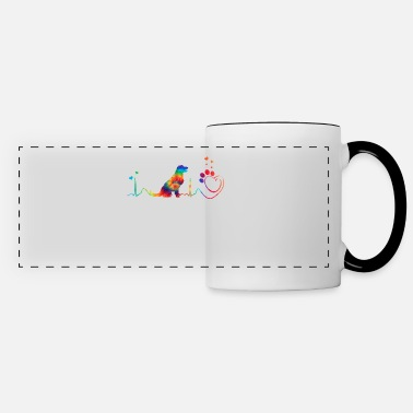 Bow Wow Rainbow Doglover Heartbeat - Panoramic Mug