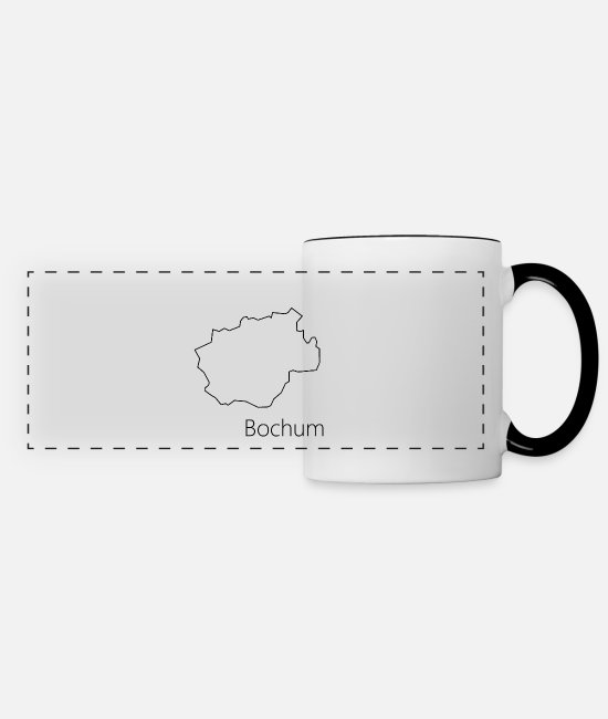 Bochum Mugs & Drinkware - Bochum - Panoramic Mug white/black