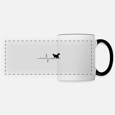 Senior Physician Cat with EKG curve - cat love for cat fans - Panoramic Mug