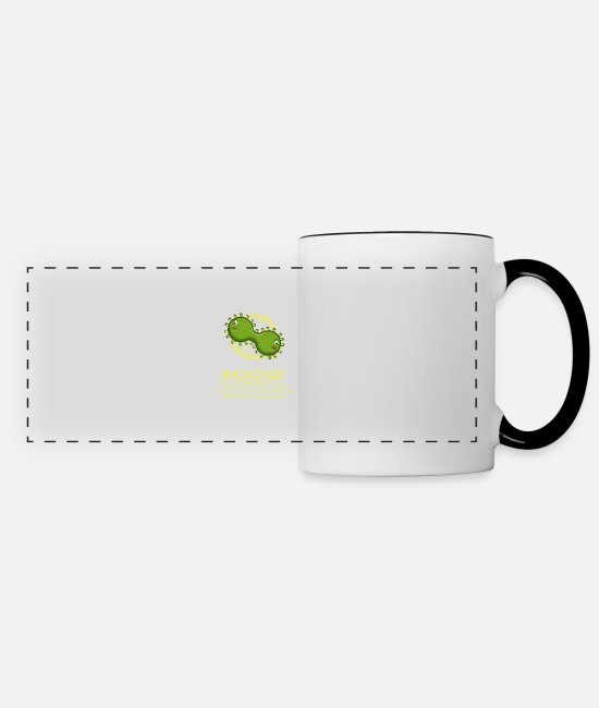 Occupation Mugs & Drinkware - Biology Funny Biologist or Scientist Gesch - Panoramic Mug white/black