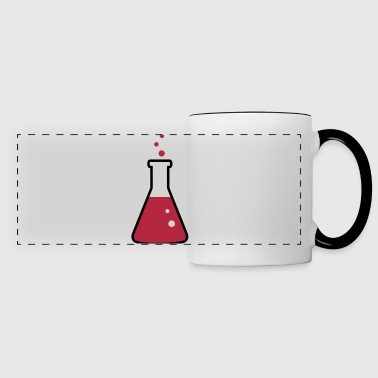 Laboratory flask, science, chemistry (2 colors) - Taza panorámica