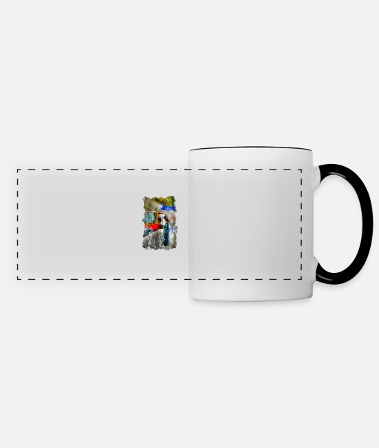 Training Mugs & Drinkware - Wait for the tain 2 - Panoramic Mug white/black