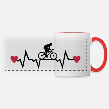 Cyclist Cyclist & Heartbeat with Hearts, cycling - Kubek panoramiczny