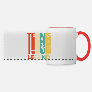 Coach Vintage Retro Tennis Legend Gifts for Tennis lover - Panoramic Mug