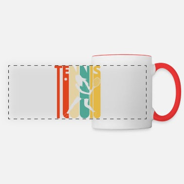 Retro Vintage Retro Tennis Player Gifts for Tennis lover - Panoramic Mug