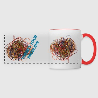 Messy electrical wires (rats nest) - Panoramic Mug