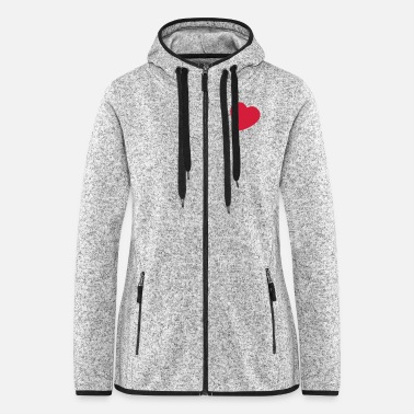 Cuore little heart EN - Women's Hooded Fleece Jacket