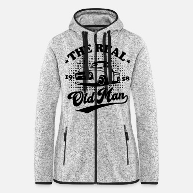 Dodge The real old man - Women's Hooded Fleece Jacket