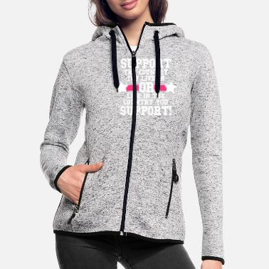 Patriot Support Your Country - Women's Hooded Fleece Jacket