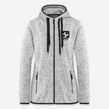 Minimal football logo / coat of arms / flag / badge - Women's Hooded Fleece Jacket