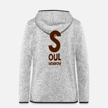 Windows Soul Window English disant cadeau de lettrage - Veste à capuche polaire Femme