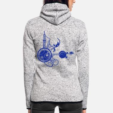 Planet Planeten - Frauen Fleece Kapuzenjacke
