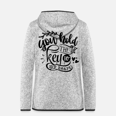 Together Key to my heart - partner look graphic - Women's Hooded Fleece Jacket