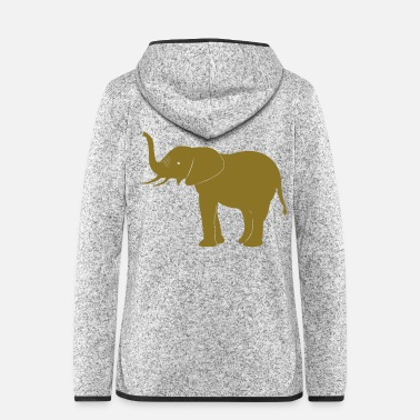 Safari Elefant Safari Afrika - Frauen Fleece Kapuzenjacke