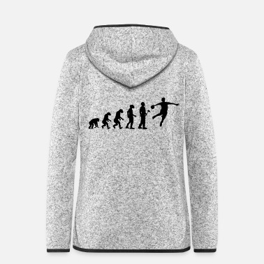 Evolution theory handballer - Women's Hooded Fleece Jacket
