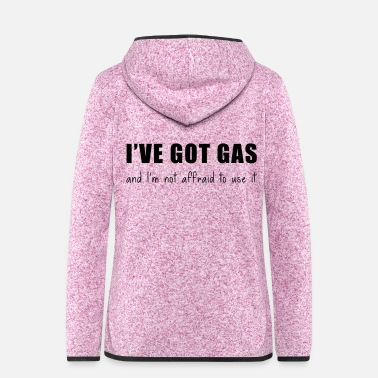 Gas Gas - Frauen Fleece Kapuzenjacke