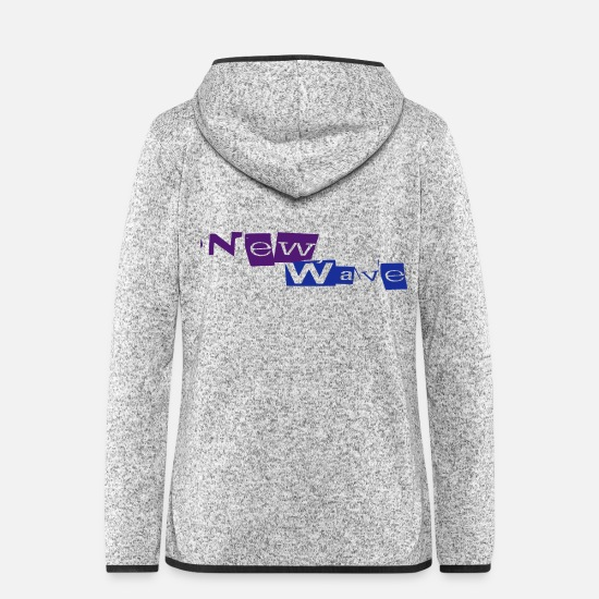 New Wave Jacken & Westen - New Wave - Frauen Fleece Kapuzenjacke Hellgrau meliert