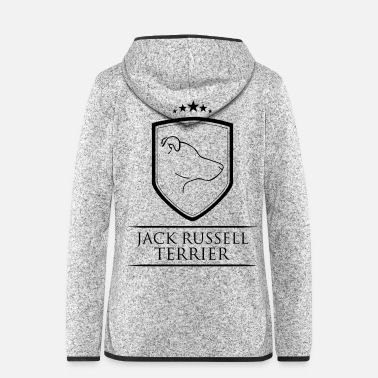 Jack JACK RUSSELL TERRIER COAT OF ARMS - Women's Hooded Fleece Jacket