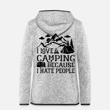 Outdoor I Love Camping - Frauen Fleece Kapuzenjacke