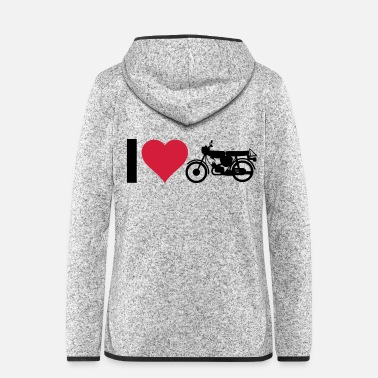 Drive Go By Car Heart moped - Women's Hooded Fleece Jacket